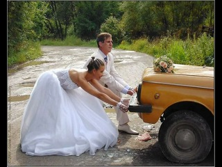 Свадебные прикольные фотки